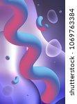 light purple vertical template... | Shutterstock . vector #1069763384
