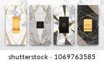 gold  black  white marble... | Shutterstock .eps vector #1069763585