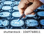 doctor point a picture of a...   Shutterstock . vector #1069768811