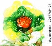 acrylic pouring.  multicolor... | Shutterstock . vector #1069769429