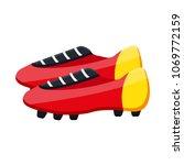 football soccer leather red... | Shutterstock .eps vector #1069772159