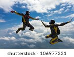 skydiving photo | Shutterstock . vector #106977221