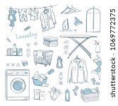 laundry. vector sketches... | Shutterstock .eps vector #1069772375