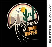 arizona road tripper cactus... | Shutterstock .eps vector #1069772909