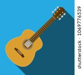 classical acoustic guitar... | Shutterstock .eps vector #1069776539