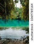 blue lagoon on jamaica | Shutterstock . vector #1069785164