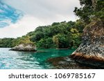 blue lagoon on jamaica | Shutterstock . vector #1069785167