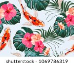 beautiful seamless vector... | Shutterstock .eps vector #1069786319