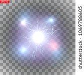 lightning  bright flashes ...   Shutterstock .eps vector #1069788605