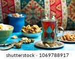 traditional caucasian dish....   Shutterstock . vector #1069788917