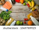 grocery shopping concept.... | Shutterstock . vector #1069789925