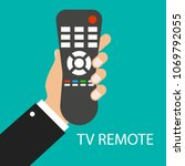 tv remote control. distance... | Shutterstock .eps vector #1069792055