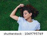young beautiful woman sleeping... | Shutterstock . vector #1069795769