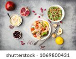 middle eastern arabic dishes... | Shutterstock . vector #1069800431
