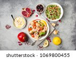 middle eastern arabic dishes... | Shutterstock . vector #1069800455