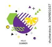 trendy style geometric pattern... | Shutterstock .eps vector #1069801037