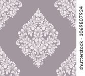 vector damask seamless pattern... | Shutterstock .eps vector #1069807934