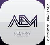 logo letter combinations a  e... | Shutterstock .eps vector #1069812335