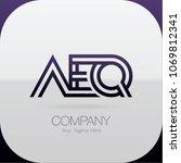 logo letter combinations a  e... | Shutterstock .eps vector #1069812341