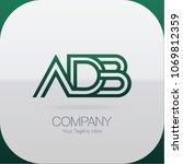 logo letter combinations a  d... | Shutterstock .eps vector #1069812359
