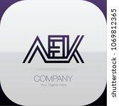 logo letter combinations a  e... | Shutterstock .eps vector #1069812365