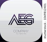 logo letter combinations a  e... | Shutterstock .eps vector #1069812401