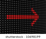 red direction sign | Shutterstock . vector #10698199