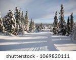 nordic ski slopes   Shutterstock . vector #1069820111