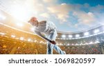 cricket player on a... | Shutterstock . vector #1069820597