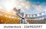 cricket player on a... | Shutterstock . vector #1069820597