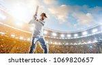 cricket player on a... | Shutterstock . vector #1069820657