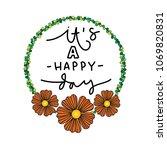 it is a happy day. modern... | Shutterstock .eps vector #1069820831