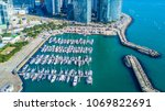 aerial view busan marina with... | Shutterstock . vector #1069822691