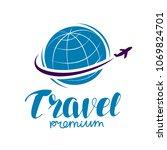 travel logo or label. journey ...   Shutterstock .eps vector #1069824701