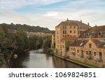 view of river avon in bath  uk | Shutterstock . vector #1069824851