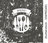restaurant menu design. grunge... | Shutterstock .eps vector #106982681
