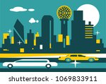 dallas texas skyline | Shutterstock .eps vector #1069833911