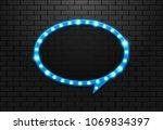 frame light retro circle... | Shutterstock .eps vector #1069834397