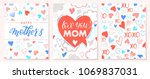 set of creative mothers day... | Shutterstock .eps vector #1069837031