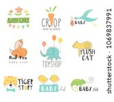 vector hand drawn set elements... | Shutterstock .eps vector #1069837991