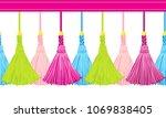 seamless border pattern ...   Shutterstock .eps vector #1069838405