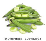Bunch Of Broad Beans On A Whit...