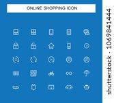 online shopping icons | Shutterstock .eps vector #1069841444