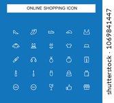 online shopping icons | Shutterstock .eps vector #1069841447