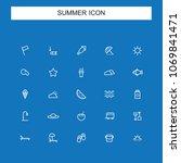 summer line icons | Shutterstock .eps vector #1069841471