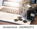 digital photography workstation.... | Shutterstock . vector #1069842371