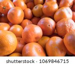 Clementines In The Market As A...