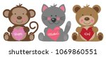 happy mothers day animals | Shutterstock .eps vector #1069860551
