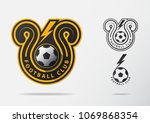 soccer or football badge logo... | Shutterstock .eps vector #1069868354