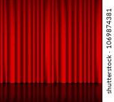 spotlight on stage curtain.... | Shutterstock .eps vector #1069874381